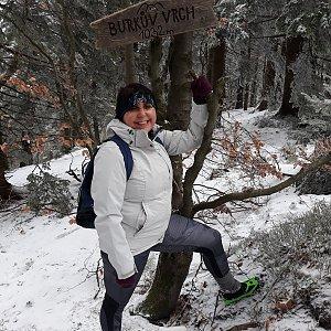 Jaroslava Bašová na vrcholu Burkův vrch (27.2.2021 10:19)