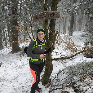 Štěpánka Losertová na vrcholu Burkův vrch (27.2.2021 14:51)
