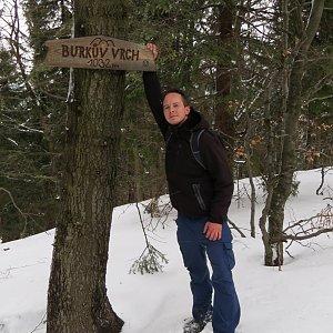 Jan Rendl na vrcholu Burkův vrch (16.3.2019 16:26)