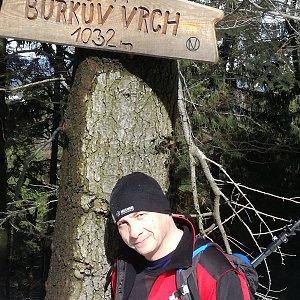 Jiří P na vrcholu Burkův vrch (17.3.2019 11:12)