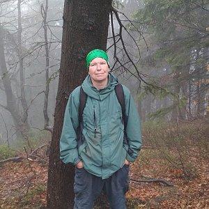 Michal Krčmář na vrcholu Burkův vrch (28.4.2019 13:30)