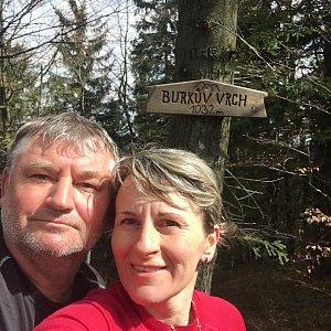 věrka na vrcholu Burkův vrch (4.5.2019 9:45)