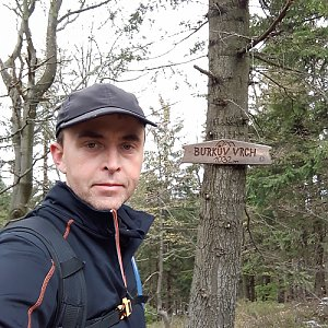 Pavel Skřičík na vrcholu Burkův vrch (8.5.2019 12:41)