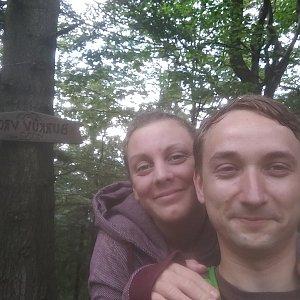 prochyz na vrcholu Burkův vrch (23.6.2019 14:00)