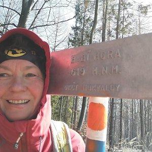 Anna na vrcholu Babí hora (24.3.2020 13:00)