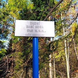 ŠenovKK na vrcholu Zadní Babí hora (8.11.2020 11:40)