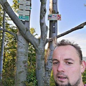Jan Zamarski na vrcholu Malá Kykula (10.9.2021 9:52)