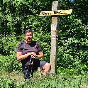 Jiří Gryz na vrcholu Uplaz (27.6.2021 11:38)