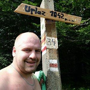 Petr Petrik na vrcholu Uplaz (7.8.2021 14:28)