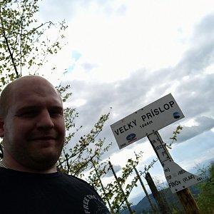 Petr Petrik na vrcholu Veľký Príslop (2.6.2020 18:01)