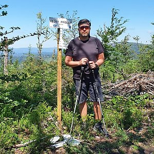 Jiří Gryz na vrcholu Veľký Príslop (5.7.2020 11:04)
