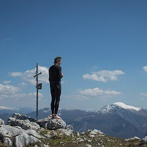 Jitka Procházková na vrcholu Monte Misone  (20.4.2019 1:20)