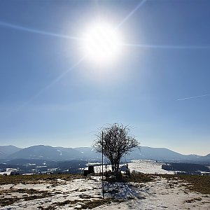 Petr Pepe Peloušek na vrcholu Na Vrchu (22.2.2021 11:40)