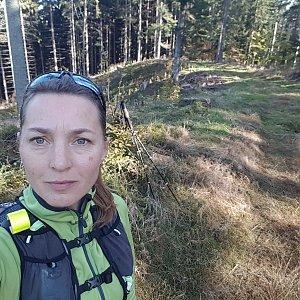 Marcela Kubíčková na vrcholu Polanky (17.10.2021 10:55)