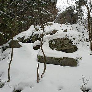 Petr Pepe Peloušek na vrcholu Skalka (27.1.2019 10:17)