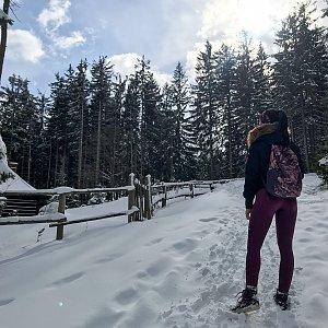 Marcela Sikorová na vrcholu Skalka (22.3.2021 11:14)