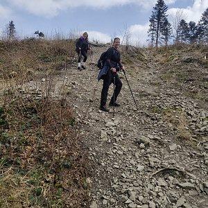 Jiří a Iveta na vrcholu Kaní (24.4.2021 14:20)