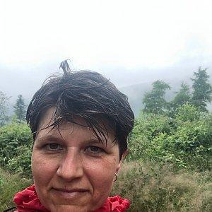 Radka Dubská na vrcholu Kaní (2.7.2021 10:45)