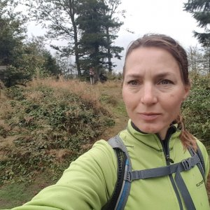 Marcela Kubíčková na vrcholu Kaní (18.9.2021 12:20)
