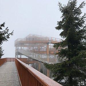 Terez Valčíková na vrcholu Pustevny (11.1.2020 11:20)