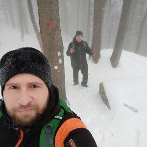 Vašek Bauer na vrcholu Pustevny (20.1.2020 12:55)