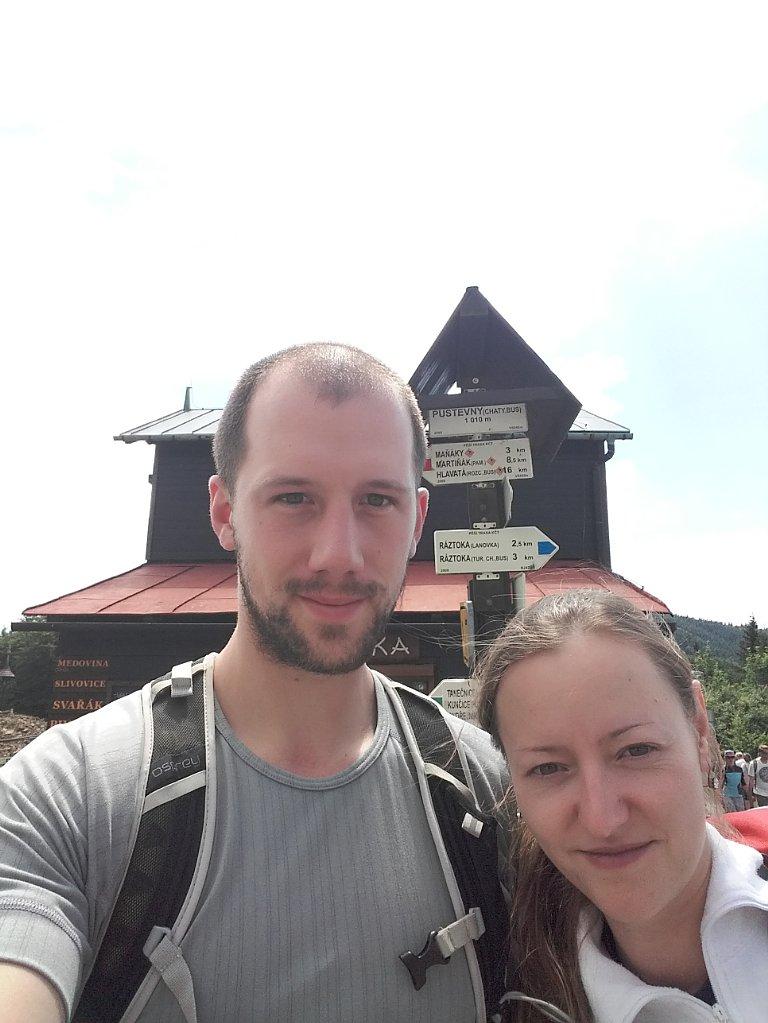 Paja&Tom na vrcholu Pustevny (7.7.2018 13:52)