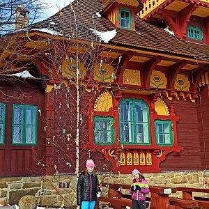 Sandra Blazkova na vrcholu Pustevny (4.4.2021 15:46)
