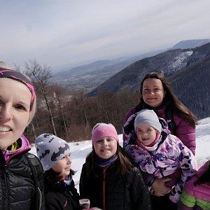 Sandra Blazkova na vrcholu Pustevny (9.4.2021 22:05)