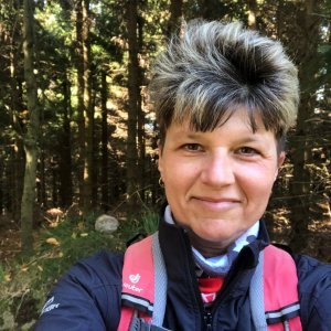 Radka Dubská na vrcholu Bukovina (9.10.2021 11:22)