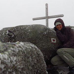 Iveta Válová na vrcholu Holubník (4.1.2020 12:51)