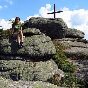 Iveta Válová na vrcholu Holubník (17.8.2020 9:42)