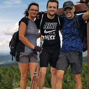 Martina na vrcholu Holubník (7.8.2021 14:00)