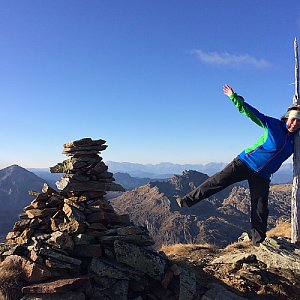 Iveta Steinerová na vrcholu Rotmandlspitze (17.11.2018 12:30)