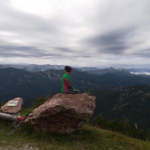 Léňa Manová na vrcholu Gemeindealpe (18.8.2019 13:03)