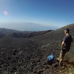 Petr T. na vrcholu Pico Viejo (20.12.2018 14:45)