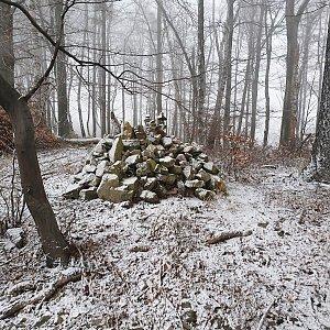 Petr Pepe Peloušek na vrcholu Kozlovická hora (18.1.2020 15:30)