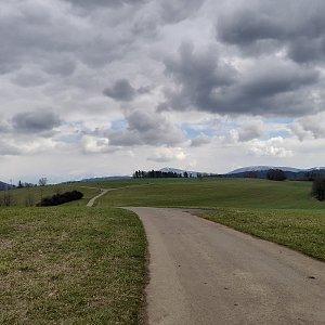 Milan Meravy na vrcholu Kocmínek (4.4.2021 14:02)