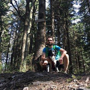 Jan Janiš na vrcholu Smrčina (22.4.2018 11:03)