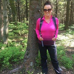Veronika Pastorková na vrcholu Smrčina (6.5.2018 9:50)