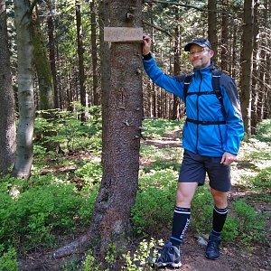 Petr Bartoň na vrcholu Smrčina (6.5.2018 9:49)