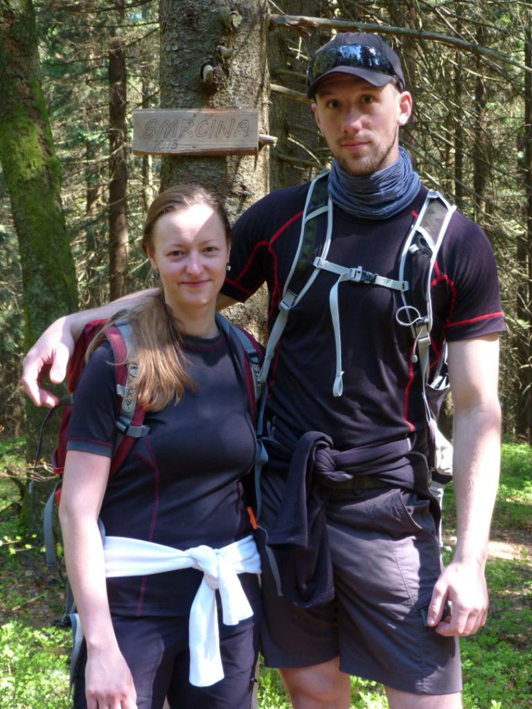 Paja&Tom na vrcholu Smrčina (28.4.2018 9:44)