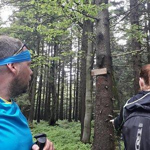 Martin a Jana Halamíčkovi na vrcholu Smrčina (20.5.2018 12:18)