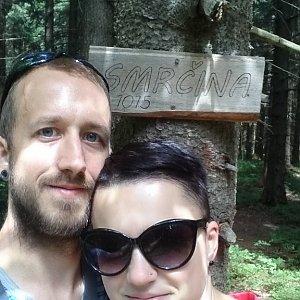 Michaela Hilscherová na vrcholu Smrčina (17.6.2018 13:47)