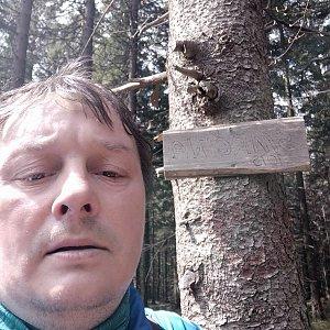 Roman Grebenar na vrcholu Smrčina (8.5.2020 10:44)