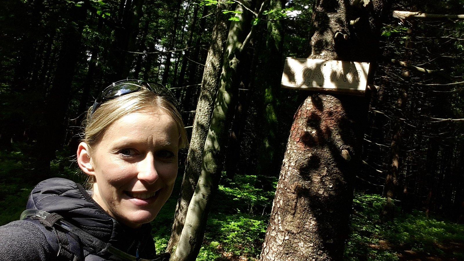Michaela Karásková na vrcholu Smrčina (25.6.2018 15:31)