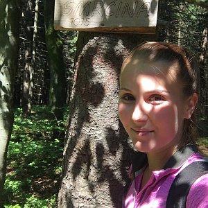Natálie Cváčková na vrcholu Smrčina (15.7.2018 14:23)