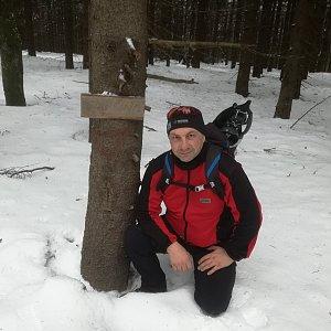 Jiří P na vrcholu Smrčina (23.2.2019 13:36)