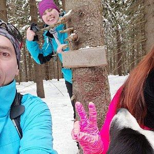 Paula Siudová na vrcholu Smrčina (24.2.2019 10:00)