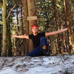 Jan Rendl na vrcholu Smrčina (23.3.2019 11:25)