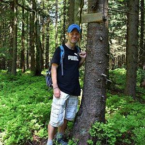 David Dudzik na vrcholu Smrčina (9.6.2019 12:21)